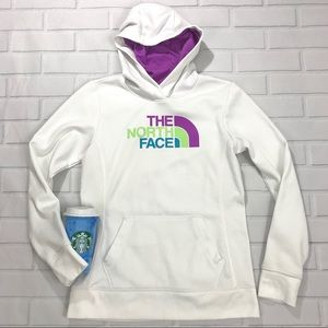 North Face Hoodie Sweater Pullover White Hooded
